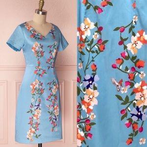 1861 Boutique Soleina Blue Floral Dress NWT 6